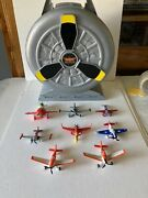 Lot Of 8 Disney Planes, Fire Rescue Store Display Case Diecast Planes