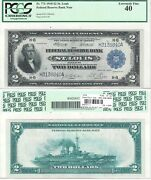 1918 2 St. Louis District Frbn Battleship Note Fr 771 Pcgs Xf-40