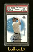 2002 Sp Game Used Tiger Woods Course Of A Champion Auto Autograph Psa 9 Cc-1