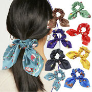 Hairbands Bow Scrunchie Women Hair Ropes Christmas Rubber Bands Ponytail Holder