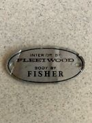 1970 Cadillac Deville Interior By Fleetwood Body By Fisher Oval Metal Plate