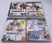 Ps3 Madden Nfl 10, 11, 12, 13 Complete With Manuals Tested Football Nfl