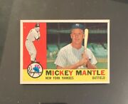 1960 Topps 350 Mickey Mantle Nm+ Looks New Vivid Mint Surface Nmmt Centered