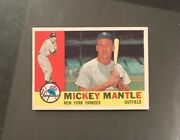 1960 Topps 350 Mickey Mantle Nmmt/nm+ Hi End Vivid Mt Surface Nmmt Centered