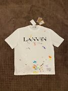 Gallery Dept X Lanvin White Painted Short Sleeve Tee Size Xl