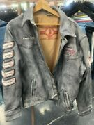 National Jr High Finals Rodeo 2020 Limited Edition Leather Varsity Jacket Size L