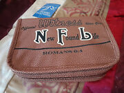 Bible Case Brown Leather Small Nfl New Found Life