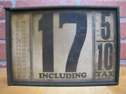Rutledge Equipment Co Pittsburgh Pa Old Gas Service Station 2 Sided Price Sign