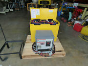 12 Volt Forklift Battery And Charger 6-85s-25 1020 Lbs