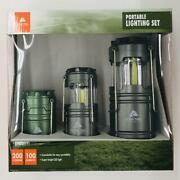Ozark Trail 3 Pack Aaa And Aa Batteries Led Camping Lanterns