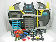 Fisher Price Imaginext Dc Batcave Playset W/batman Robin And Catwoman And Vehicles