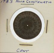 1783 Nova Constellatio Copper Cent Pointed Rays Small Us Holed Coin 26mm