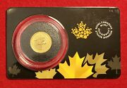 2016 Canada 1/10 Oz Gold Growling Cougar .99999 In Assay 20 Coin Rcm