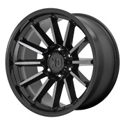 Xd Series Xd855 Luxe 22x10 -18 Gloss Black And Machined Gray Wheel 6x135 Qty 4