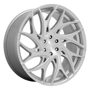 Dub S258 Goat 22x9 +35 Silver Brushed Face Wheel 5x120 Qty 4