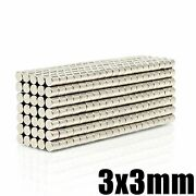 N35 Neodymium Round Magnet 3mm Super Powerful Strong Permanent Magnetic Disc