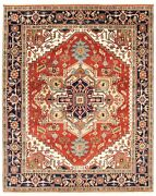 Vintage Hand-knotted Carpet 7'9 X 9'10 Traditional Dark Copper Wool Area Rug