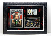 Resident Evil Movie Video Game Large Wall Frame Shadow Box Gun Alice And Valentine