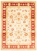 Vintage Hand-knotted Carpet 8and0393 X 11and0392 Traditional Cream Wool Area Rug
