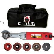 Corded Mini Angle Carving Set Grinder Merlin2 Power Tool Set 1 Amp 2 Inch