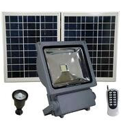 Flood Security Flood Light Remote Motion Activated Grey Outdoor Led Solar Power