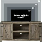 Tv Stand Wood Media Console Table With Storage Cabinets For Tvs Up To Up To 65