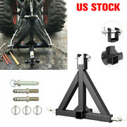 3point 2 Receiver Trailer Hitch Kubota Category 1 Tractor Tow Drawbar Adapter