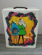1968 Vintage Barbie Doll Trunk Double Sided Case W/ Dolls 1966, Clothes And Acces