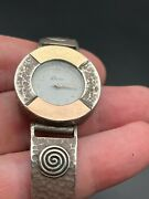 Vintage Sterling Silver Gold 14k Watch Bracelet Watches For Women New Battery