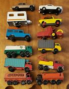 13 Vintage Matchbox Lesney Made In England Toy Car Cars Truck Trucks Lot, As Is