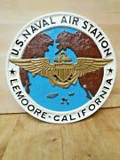 Large Vintage Service Plaque In Resin Us Naval Air Station Lemoore California