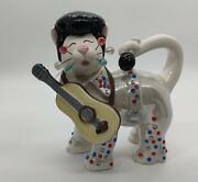 Amy Lacombe Signed 2006 The Idol Whimsiclay Cat Figurine