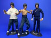 Hot Toys 1/6 Scale Dx04 Bruce Lee Enter The Dragon Three Figures
