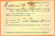 Old Judaica 1935 -jewish Credit Co-op -kosice - 200 Kcs Cheque -more On Ebay.pl