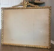 Antique French Italian Gesso Gilt Wood Heavily Carved Picture Mirror Wall Frame