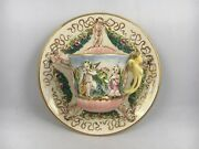 Capodimonte Italy Ardalt 6619 Tea Cup On Side Saucer Wall Hanging Cupid Baby