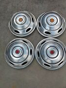 Vintage Rv Motorhome Wheel Cover Hubcap Set With Center Cap Refector