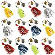 Spinnerbait Bass Fishing Lures Kit 3/4oz Spinner Baits With Colorado Blades M...
