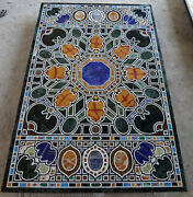 4'x2' Antique Green Marble Center Dining Side Table Top Inlay Lapis Malachite Df