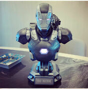 Iron Man 2 War Machine Bust 1/2 Statue Model Collection Resin Figure W/ Led 48cm
