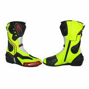 Kwisy Leather Racing Motorbike Shoes Motorcycle Boots All Size Avail