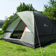 3-4 Person Double Layer Rainproof Hunting Travel Family Outdoor Camping Tent