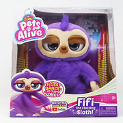 Pets Alive Fifi The Flossing Sloth Battery-powered Robotic Toy By Zuru, 3+ New