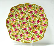 Vintage Royal Albert Old Country Roses Chintz Collection Handled Cake Plate
