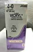 Ethicon Vicryl J496h Coated Sutures 4-0 45cm Exp.11-30-22 Free Priority Shipping