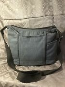 Thirty One Free To Be Carry All Purse Tan/ Brown Brushed Twill Fabric Wide Strap