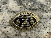 Michigan Wolverines 1997-1998 Triple Crown Champions College Football Lapel Pin