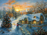 Christmas Cottage Jigsaw Puzzle 500 Piece By Nicky Boehme 18 X 24