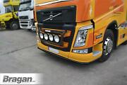 To Fit 2013+ Volvo Fm4 Low Bar Front Bumper Stainless Steel Accessories - Black