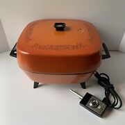 Vintage Ge General Electric 1970's Electric Skillet With Dome. Works